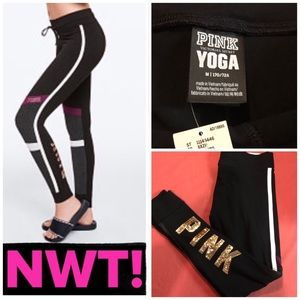 NWT! PINK BLING SEQUIN CAMPUS LEGGINGS